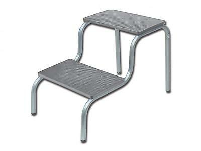 Running Board Gray Doctor'S Office Two Steps Painted Tubular Footrest 40X53X44H