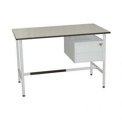Desk Office With Tubular Metal Frame And 2 Side Drawers Cm. 120X70X78