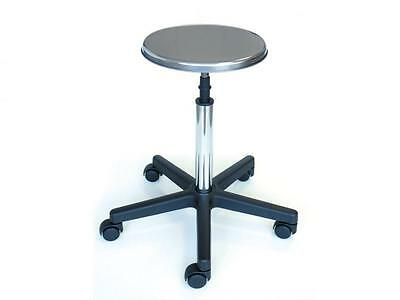 Stool Steel Aisi 304 A Base Of Plastic Wheels Adjustable Height Cm. 51 / 63H