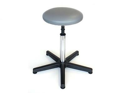 Faux Leather Stool Washable Fixed Base In Plastic And Adjustable Height