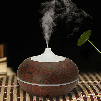 300ml Color-changing LED Ultrasonic Humidifier Essential Oil Diffuser Aroma Spra