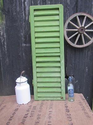 VINTAGE WOODEN FRENCH SHUTTER FREE POST SHABBY WINDOW FREE POST one only 104 cm