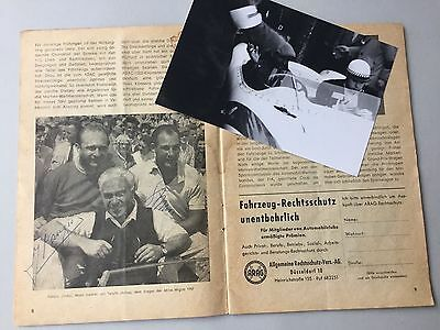 JUAN MANUEL FANGIO († 1995) & STIRLING MOSS Formel 1 In-person Programmheft 1957