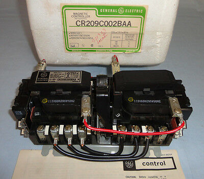 general electric size 1 reversing starter cr309c0 • 299 95 picclick general electric cr209c0002baa reversing contactor cr209c0002 motor starter new