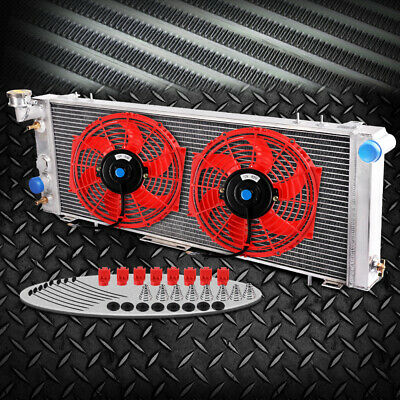"Aluminum Radiator For Jeep Cherokee XJ / Wagoneer Truck 91-01+10"" Fan"
