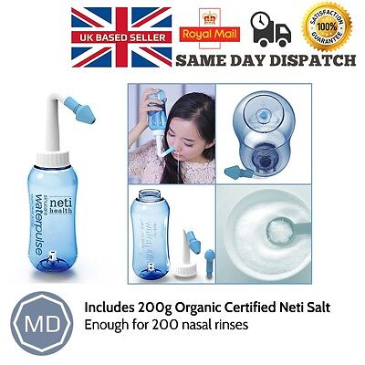 NetiHealth™ Sinucare Waterpulse + 30 Organic Saline Salt Sachets ~ UK Delivery