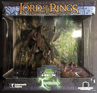 """2004 Lord of the Rings Miniatures 5"""" Giant TREEBEARD Combat Hex Set SEALED"""