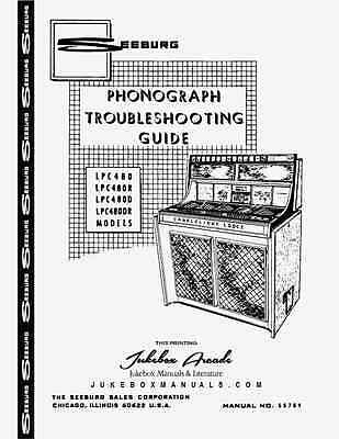 Seeburg LPC480 Series Jukebox Trouble Shooting Guide Most Comprehensive 52 Pages