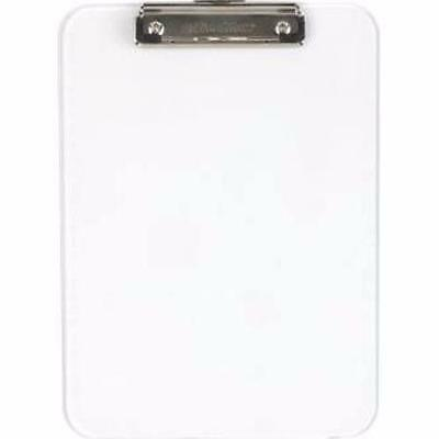 OfficeMax Letter‑Size Plastic Clipboard, Clear OM96028