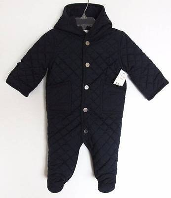 Ralph Lauren Baby Boys Newport Navy Quilted Barn Bunting Snowsuit (3M) NWT
