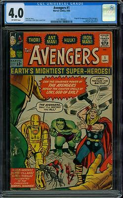 Avengers 1 CGC 4.0 - OW Pages - 1st Avengers