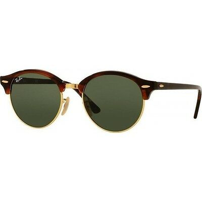 Ray-Ban RB4246 990 Clubround Tortoise Frame Green Classic 51mm Lens Sunglasses