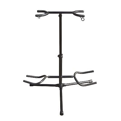 Twin Guitar Floor Stand For 2 Electric Or Acoustic Guitars NJS072