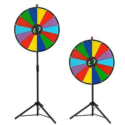 New 60cm Editable Dry Erase Colour Prize Wheel Fortune Spinning Game Floor Stand