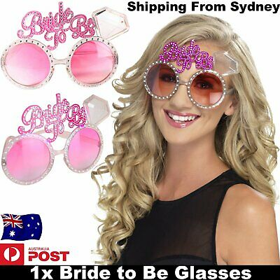 1x Bride To Be Glasses Bridal Shower Bachelorette Wedding Party Hen Night Girls