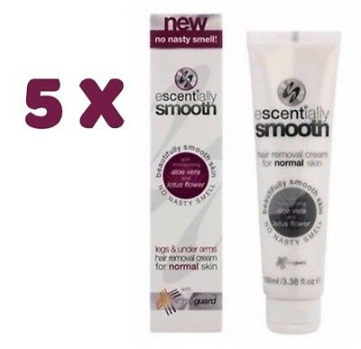 5X Escentially Smooth Hair Removal Cream with Aloe Vera 100ml BNIB Veet Nair