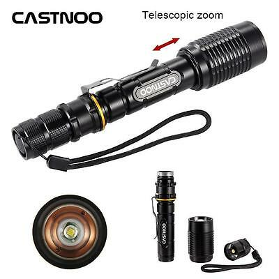 Black Castnoo 5 Modes 8000 LM CREE XML T6 LED Zoomable Flashlight Torch Lamp OE
