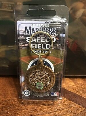 Seattle Mariners Safeco Field Game Used Infield Dirt Keychain CRT MLB Baseball