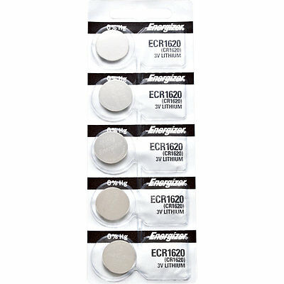 5 x Energizer CR1620 Watch Batteries, Lithium battery 1620