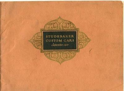 1927 Studebaker Brochure 1927  -  Studebaker Custom Cars - September, 1927