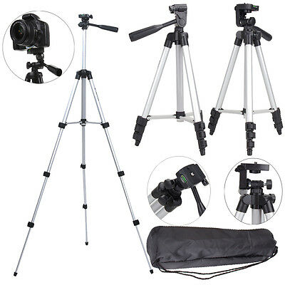Professional Aluminum Tripod Stand Holder Mount for Canon Nikon DSLR Camera+Bag