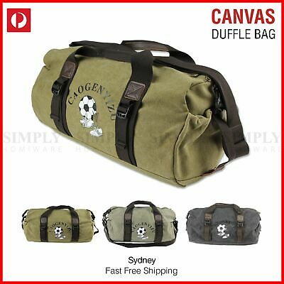 Canvas Duffle Bag Sports Duffel Shoulder Vintage Large Gym School Mens Travel