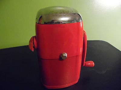 Vintage Antique 1940's-50-s Rival ICE O MAT Ice Crusher Vogue Model---RED