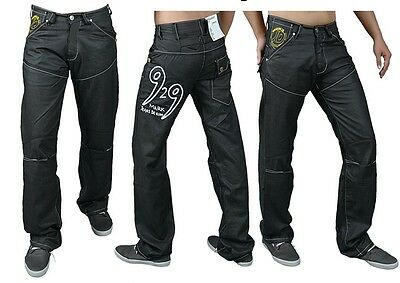 Men's Black Skinny Jeans Denim Star Fashion Regular Slim Fit Trouser Sty 7