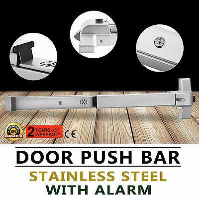 Door Push Bar With Alarm Emergency Alarm Panic Exit Device Stainless Steel
