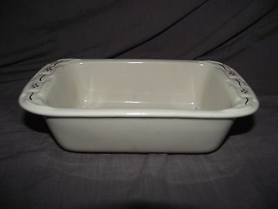 Longaberger Woven Traditions Red Mini Loaf Pan