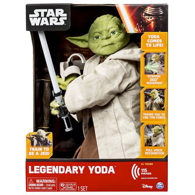 Star Wars Legendary Jedi Master YODA Robot Toy Interactive Voice *FREE SHIPPING*