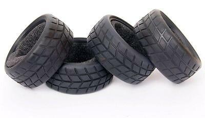 4pcs Racing Speed Sponge Rubber Tires Tyre fit 1:10 RC Model On-Road Car 6083