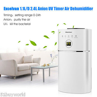 Excelvan 1.1L/D Low Energy Air Dehumidifier Anion UV Purify Home Kitchen Damp