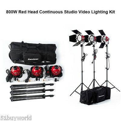 Pro 3x800W Dimmable Studio Flash Light Photography Lighting Video Photo Lamp Kit