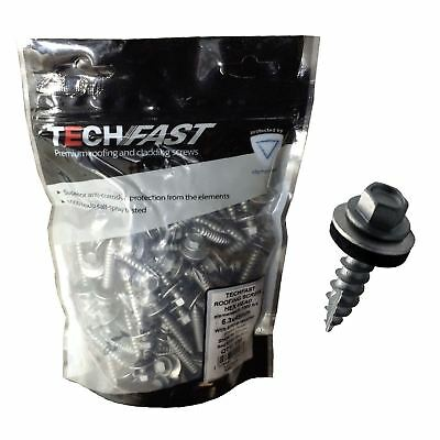 100 x Tech Slash Point Screws for Roofing & Cladding, Sheet to Timber 6.3 x 45mm