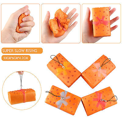Scent Bread Squishy Slow Rising Vent Toy Phone Strap Squeeze Elasticity Stretch