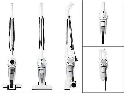New 2-In-1 Upright And Handheld Vacuum Cleaner White Hepa Filter 600W 1.2 Litre