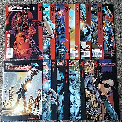 The Ultimates #1 2 3 4 5 6 7 8 9 10 11 12 13 Complete Set - Marvel Comics