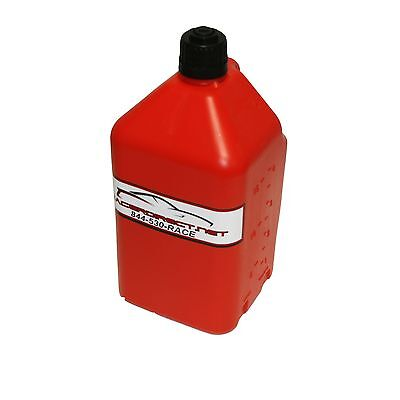 Utility Fuel Dump Jug 5 Gallon With Fill Hose Red Easy To Use 2 Handle