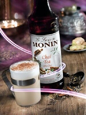 MONIN Syrup Chai Tea 70 CL - Great when used to make an Iced Tea!