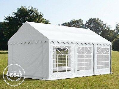 4x6m Heavy Duty PVC Gazebo Marquee, Bolt Steelconstruction, Party Tent, white