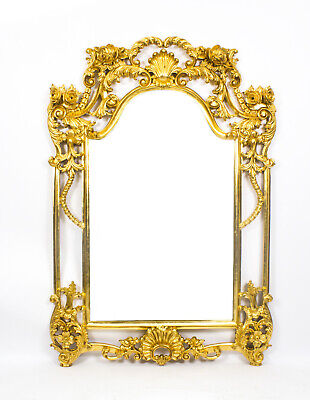 Beautiful Decorative Luis Revival Carved Giltwood Mirror 163 x 113 cm