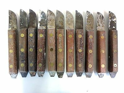 Lot of 11 Buffalo #12 Rosewood Lab Knives Laboratory Dental Carving