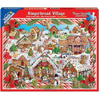 """Jigsaw Puzzle 1000 Pieces 24""""X30"""" Gingerbread Houses WM1128"""