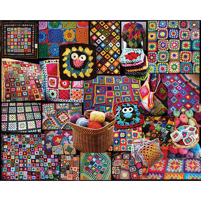 "Jigsaw Puzzle 1000 Pieces 24""X30"" Granny Squares WM1055"