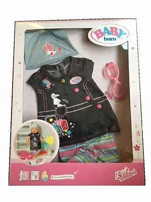 Zapf Creation Baby Born Deluxe Jean Dress Set Doll Outfit & Acessories