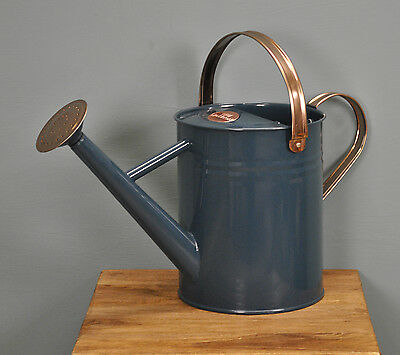 Molton Mill Watering Can in Heritage Blue (4.5 Litre) by Gardman