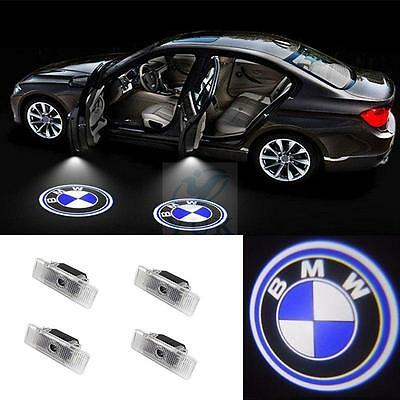 4PCS LED Car Door Step Welcome Projector Courtesy Shadow Lights For BMW E39 E53