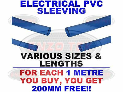 Flexible Electrical PVC Blue Sleeving Wiring All Sizes & Lengths