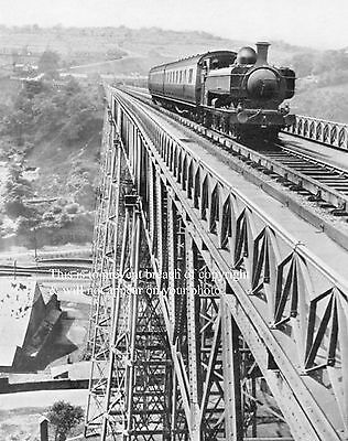 Photo Of Train Passing Over The Crumlin Viaduct Monmouthshire